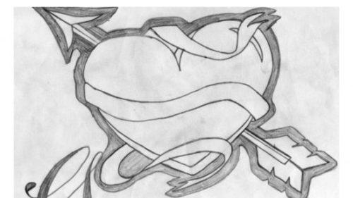 Dibujos A Lapiz De Amor: Imagenes Para Dibujar A Lapiz Faciles Y Chidas De Amor