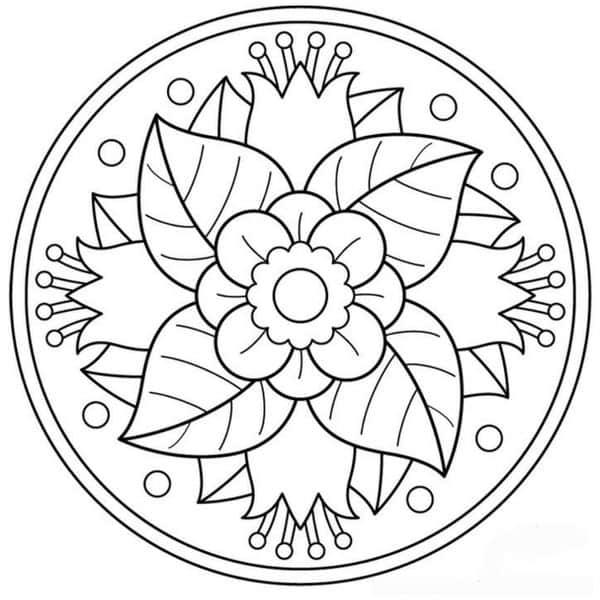 Mandalas Faciles Para Dibujar Con Compas