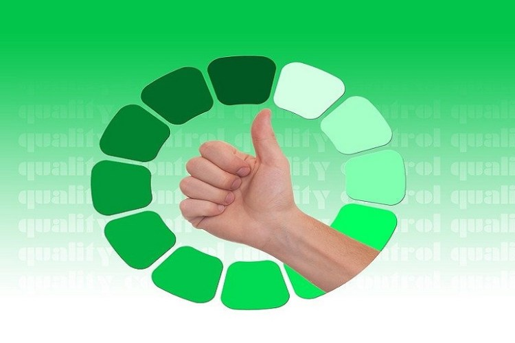 imagen que muestra una mano con el pulgar para arriba en un fondo verde