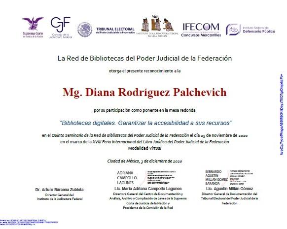diploma de la conferencia