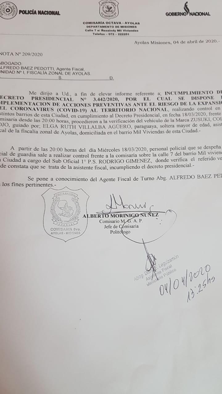 IMG-20200404-WA0337 Amiguismo logró adulterar informe policial en Ayolas