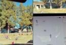 ¿Ya lo viste? – Sensores de un auto Tesla detectan a supuesto fantasma en un cementerio.