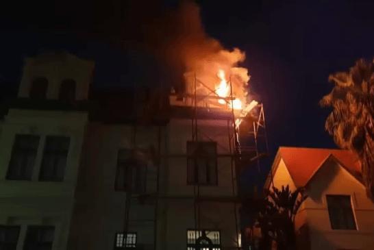Fire damages historic building in Swakopmund