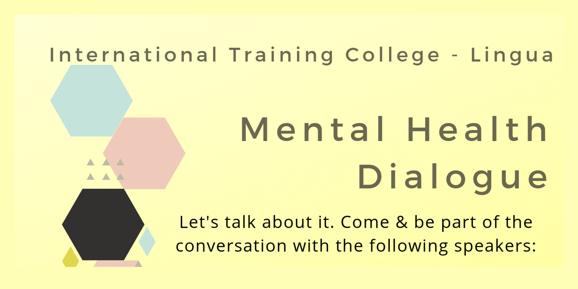 Mental Health Dialogue - Lingua College - Informanté