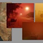 Strange dust cloud envelopes Oranjemund