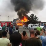 House destroyed by fire in Swakopmund
