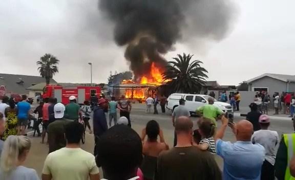 House destroyed by fire in Swakopmund