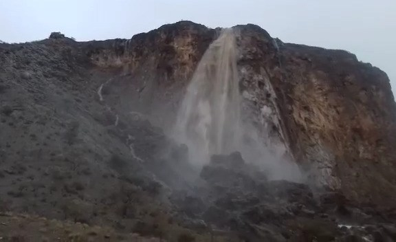 Heavy rain cause unique and spectacular experience