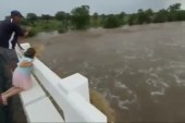 Okahandja River breaks its banks