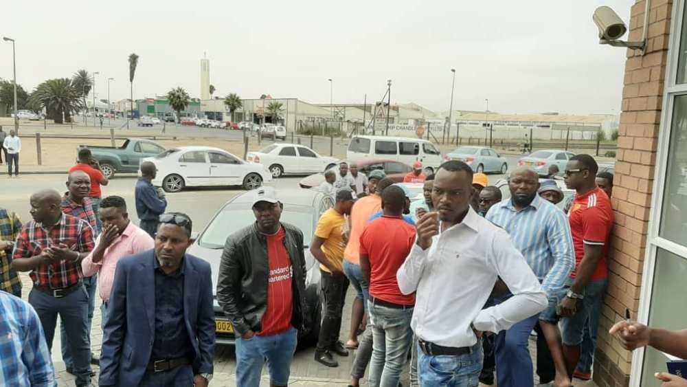 Fishermen Heinaste Namibian law enforcement