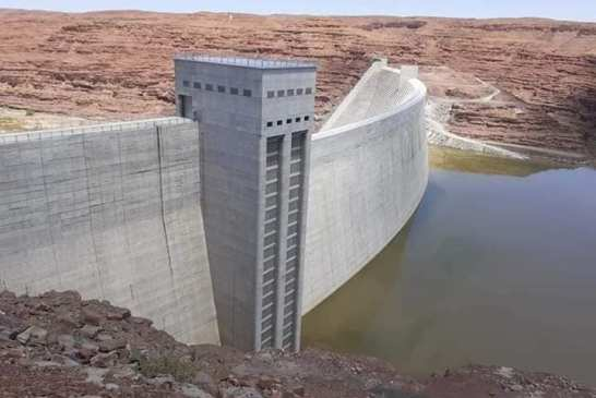 Neckertal Dam slowly filling up