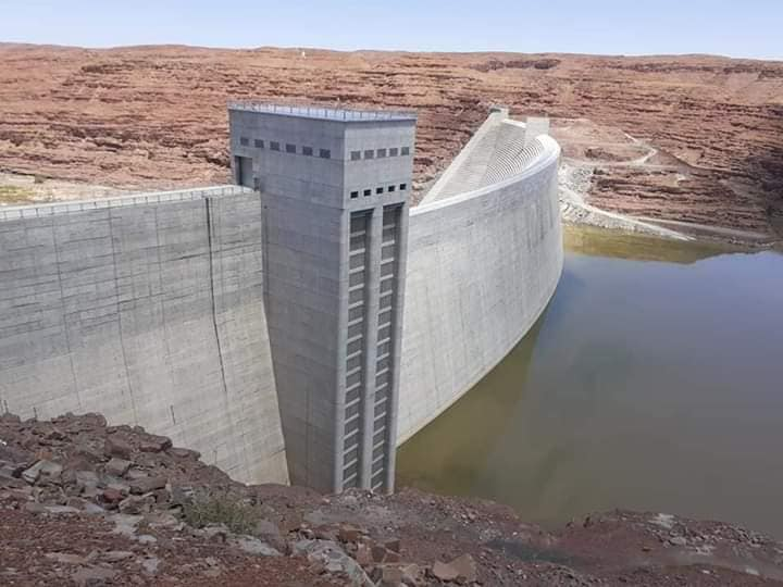 Neckertal Dam inflow water