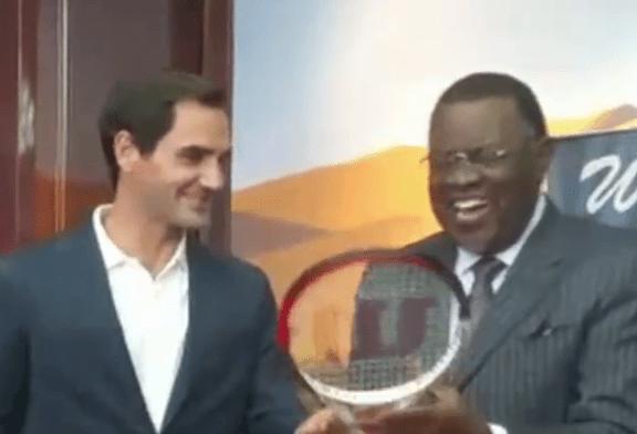 President Geingob welcomes Federer