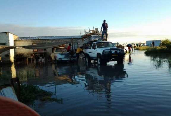 People evacuated because of flood