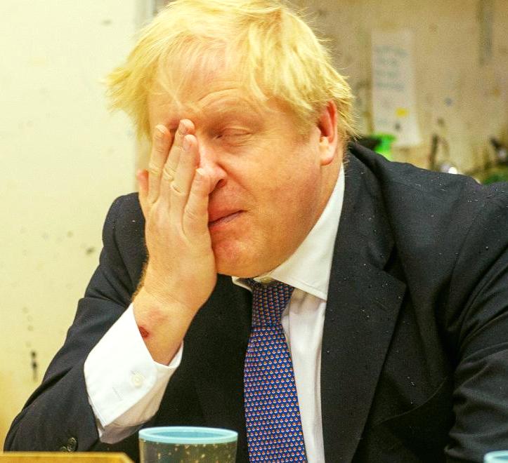 British Prime Minister Boris Johnson london hospital