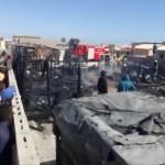 Fire destroys five backyards shacks