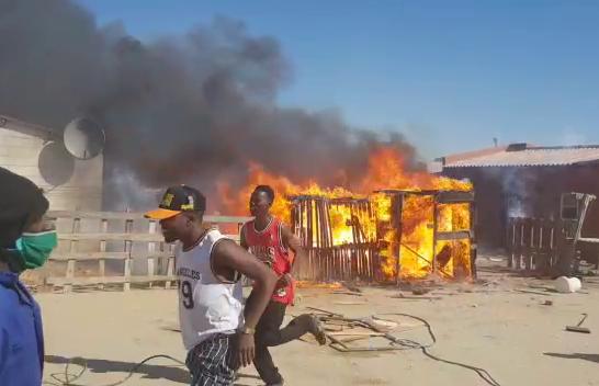 Fire destroys several shacks in Swakopmund