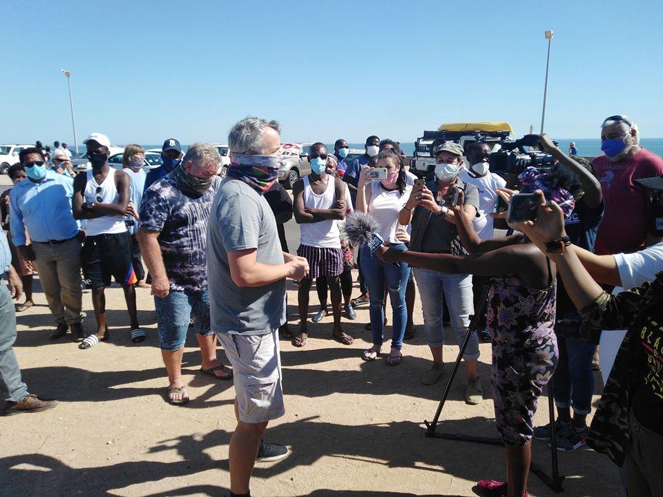 Residents Swakopmund Walvis Bay Yianni Savva Police Station B2 Road towns protest