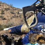 Pilot and children miraculously survive helicopter crash