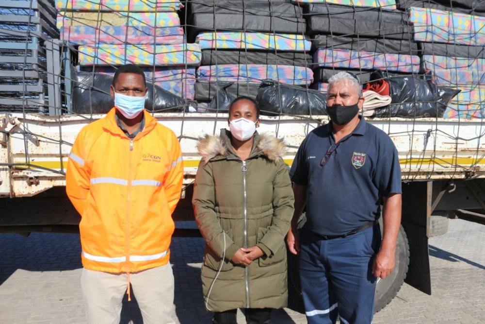 Namibians support residents Twaloloka Walvis Bay homes fire Sunday