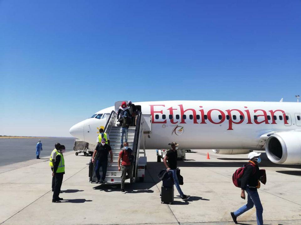 Namibia international flight Namibia first international flight Hosea Kutako International Airport