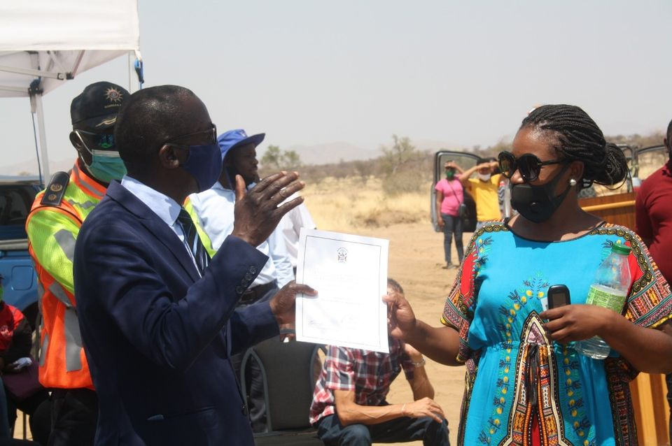 Okahandja residents receive land Ministry Urban Rural Development Ekunde Extension