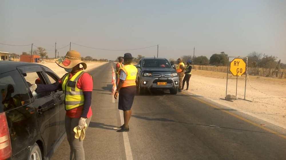 Volunteers sanitizing roadblocks Windhoek-based Otindi Cleaning Services Namibian Police curbing spread coronavirus