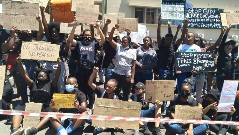 No prosecution youth protestors charges dropped Saturday arrested demonstration Sexual Gender-Based Violence SGBV Femicide