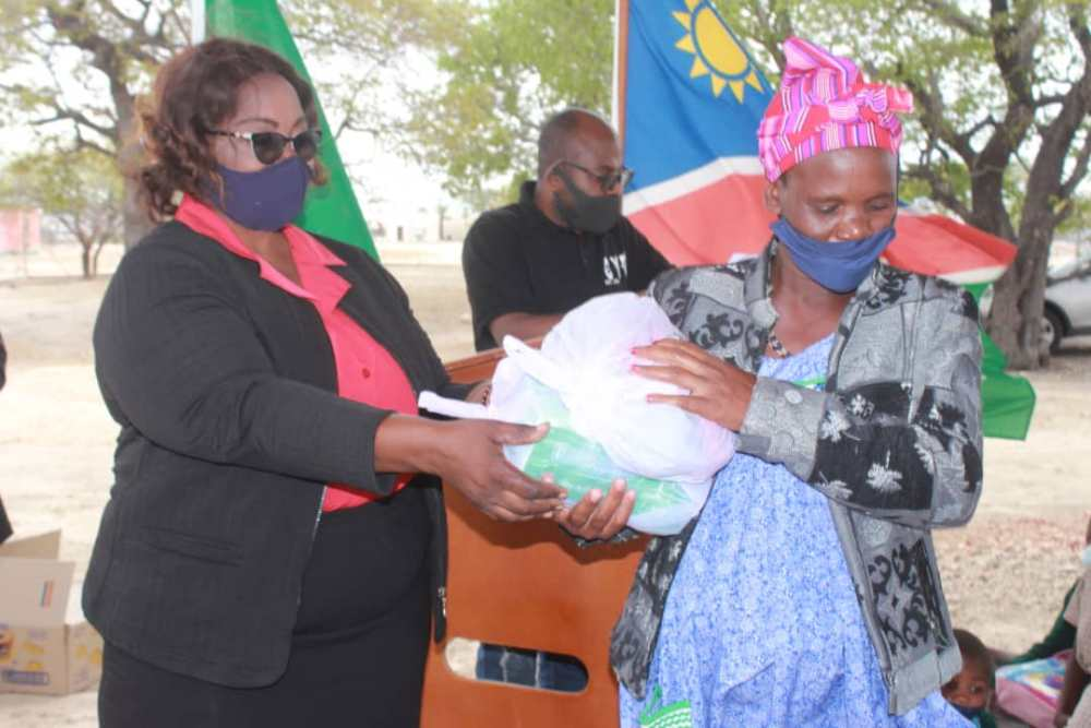 Council helps Oshikuku Town Council residents clothing shoes baby nappies toiletries