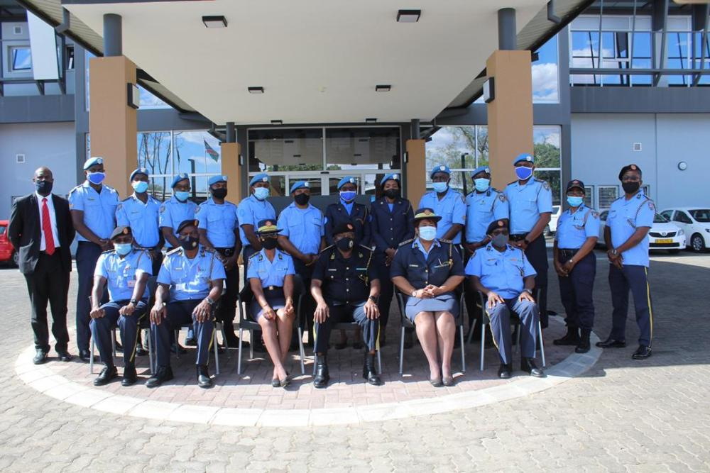 welcomes returning South Sudan peace mission Inspector General Namibian Police Sebastian Ndeitunga police officers