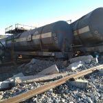 Derailment causes huge damage