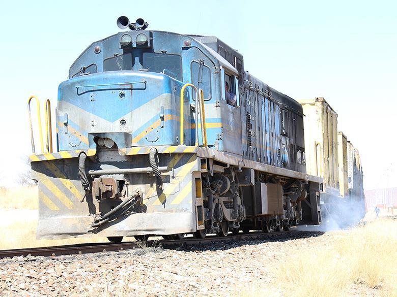 locomotives double freight traffic railway Arandis Walvis Bay diesel