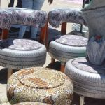 Tyres made into beautiful furniture