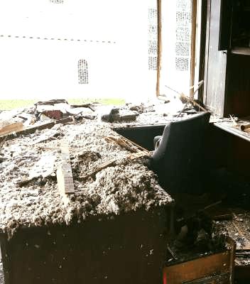 Burglars burn church case damage property vandalised