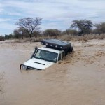 Flash flood catches traveller unawares