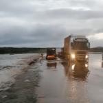 Flooded roads present danger