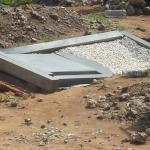 Graves collapse after heavy rains