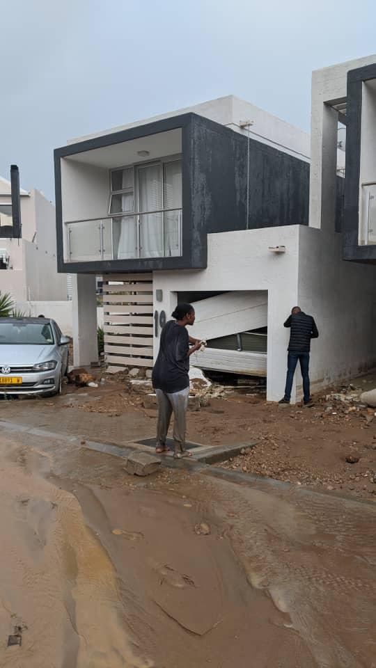 Kleine Kuppe homes damaged residential Windhoek