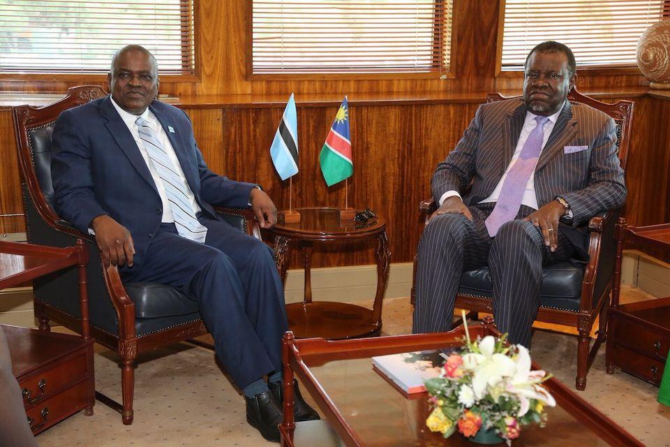 Heads State Namibia Botswana citizens keep peace
