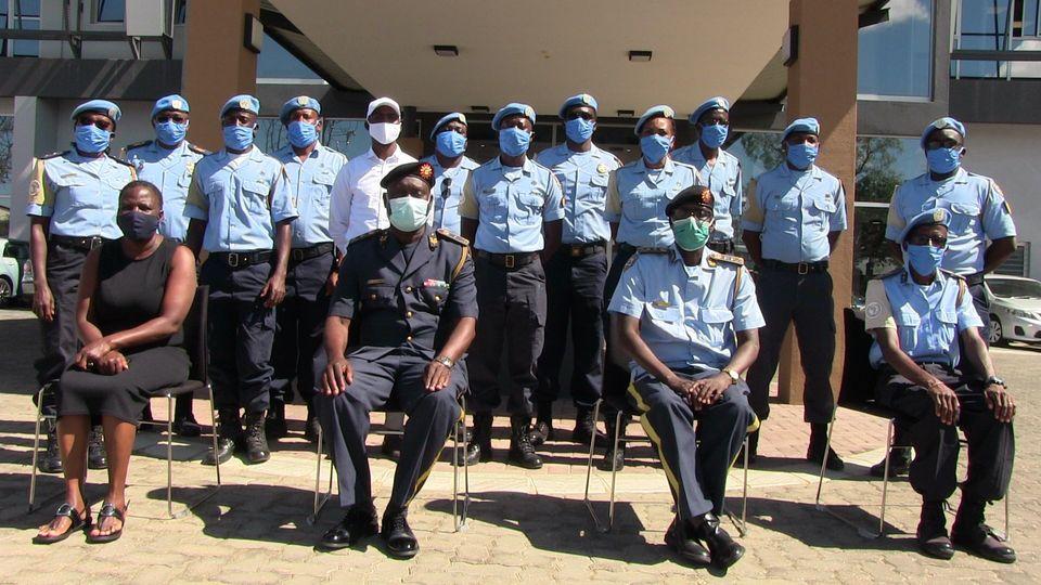 Namibian peacekeepers Dafur Namibian peacekeepers home Police Force