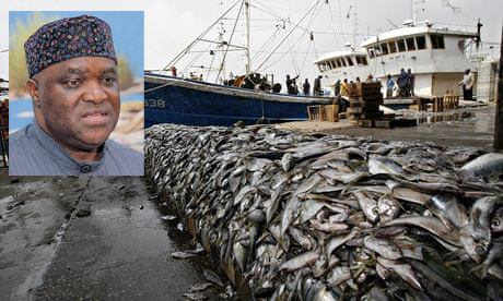 Fishing industry forced jobs employed horse mackerel fish processing plants Namibian coast fishing quotas
