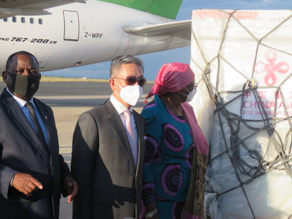Namibia COVID-19 vaccines arrive vaccine People Republic China