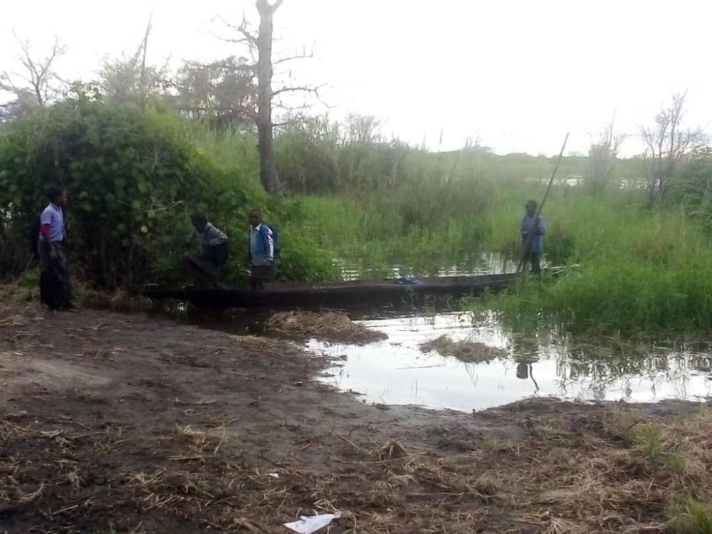 Zambezi schools water learners schools Kabbe South Region floods River