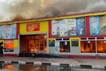Drama erupts as Magic Discounters burn to the ground