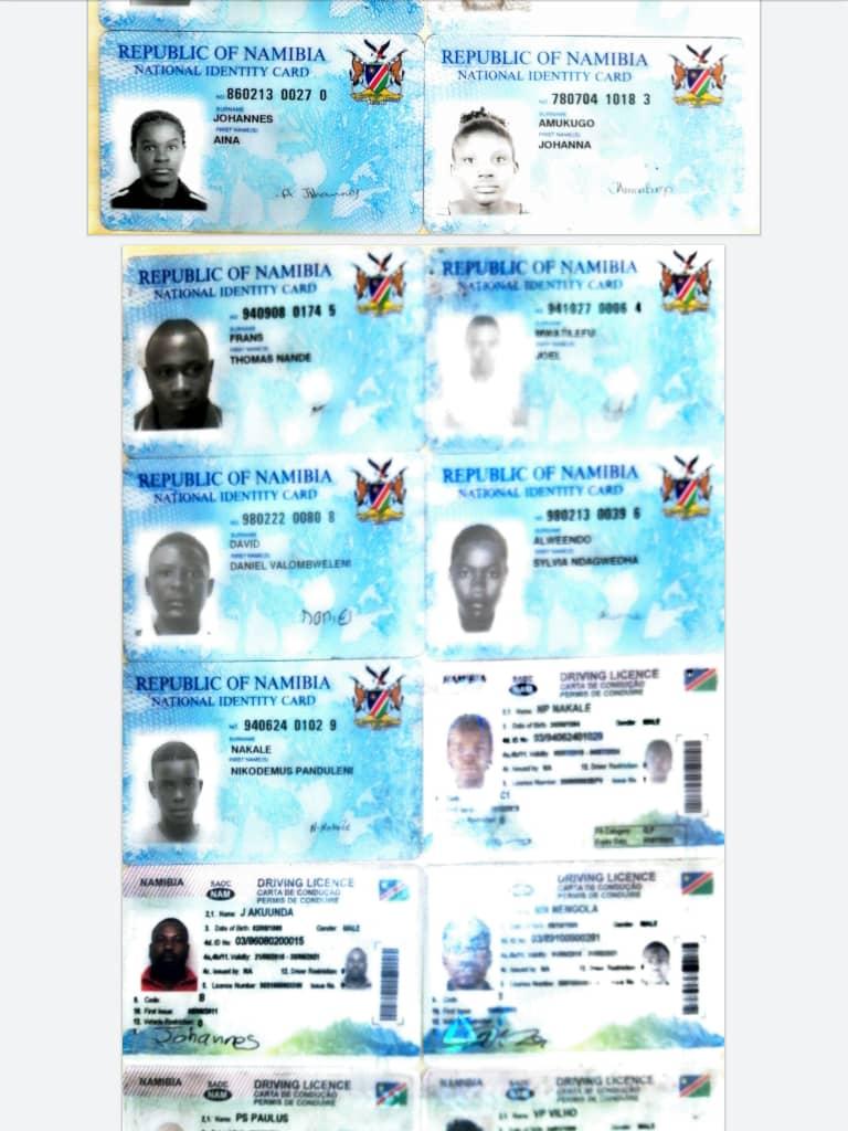 Namibian Police Oshana lost identification headquarters Oshakati lost-and-found