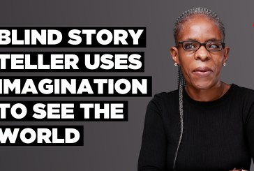 Blind story teller uses imagination to see the world