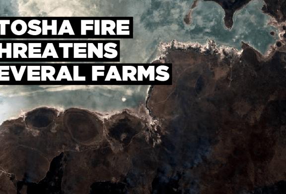 Etosha fire threatens several farms