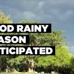 Good rainy season anticipated