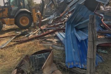 Sheriff demolishes Haufiku's buildings