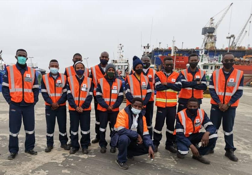 Students Marine Engineering students Namibia Science Technology Nust Walvis Bay industrial harbour